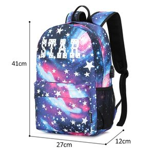 Wholesale backpacks for laptops for sale - Group buy Anti theft Luminous School Bags for Boys and Girls Backpack with USB Charging Anime Luminous Backpack For Teenager Laptop Bags