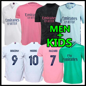 20 21 Real Madrid Soccer Jersey HAZARD home away adult soccer shirt ASENSIO ISCO MARCELO madrid 2020 2021 kids kit Football uniforms