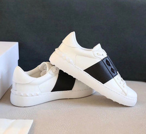 Wholesale perfect flooring resale online - Perfect Designer Rock Runner Sneakers White Leather Split Casual Walking Rock Studs Women Men Couple Outdoor Sports Trainers EU35