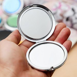 Wholesale folding pocket makeup mirror for sale - Group buy Fold Round Crystal Compact Mirror New pc Metal Pocket Mirror Makeup Portable Cute Personalized Wedding Gifts