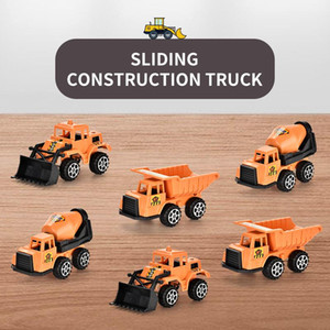 Wholesale truck vehicles for sale - Group buy 6 Styles Mini Engineering Car Diecast Toy Dump Truck Excavator Vehicles Model Educational Toy Cars for Children Boy Gift