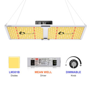 LED Plant Growth Light Meanwell Driver SF2000 Full Spectrum Growth Light 3000K 3500K 660nm 220W Hydroponic Indoor Plant Tent Light DHL