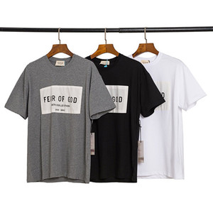 ingrosso adesivi da skateboard-2020 Primavera Estate Fear Of God Sesto raccolta di patch Sticker Tee fredda del pattino a maniche corte maglietta Nebbia Uomo Donna T Shirt Casual