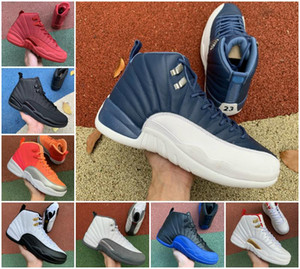 Wholesale retro 12 ovo white gold resale online - Jumpman s Taxi Mens Flu Game Royal Basketball Shoes OVO White University Gold Black Retroes Indigo Playoff Winterized Designer Sneakers