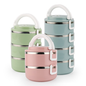 Wholesale lunch box kids resale online - Stainless Steel Thermos Lunch Box For Kids Japanese Adult Bento Box Portable Leak Proof Lunchbox School Food Container Storage T200902
