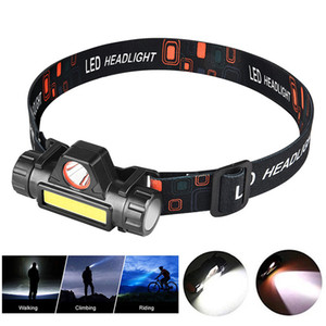 Wholesale headlamp for sale - Group buy Headlamp Flashlight USB Rechargeable LED Headlight IPX4 Waterproof Head Lights for Camping Running Hiking Outdoors Hunting