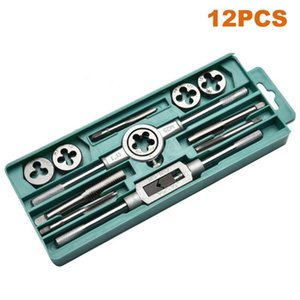 Wholesale threading tap set for sale - Group buy 12 Alloy Steel Tap Die Set M3 M12 Screw Metric Thread Tap Drill Wrench Dies Holder Hand Thread Plug Tool with Case