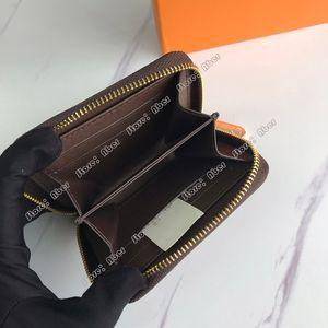 Excellent Zippy Coin Purse M60067 Designer Fashion Women Short Wallet Compact Card Womens Coin Pouch Pocket Holder Key Wallets Pochette bag