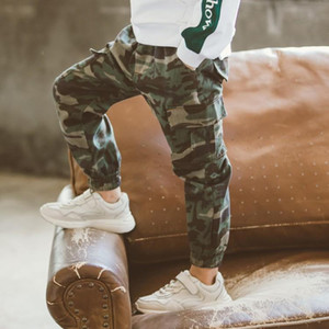Camouflage Pants Kids Boys Pants Cotton Long Teenage Girls Clothing Camo Pants Kids Trousers Big Size 3- 14 Year
