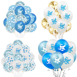 Wholesale cartoon planes resale online - 10 inch Aircraft Latex Balloon Cartoon Aircraft Confetti Balloons for Plane Theme Birthday Party Kids Toys Airball Decor