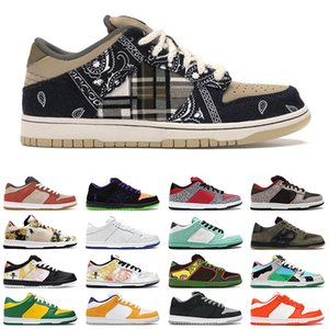 Wholesale plastic outdoor flooring resale online - travis scott low dunk chunky dunky outdoor shoes brazil shadow syracuse blue fury black cement dunks skateboard men trainers sneakers