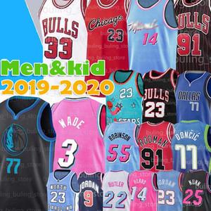 23 Michael Jersey MJ Bull 77 Doncic Dwyane 3 Wade Luka Tyler 14 Herro Butler ChicagoJerseys 91 Dennis Rodman 33 Scottie Pippen