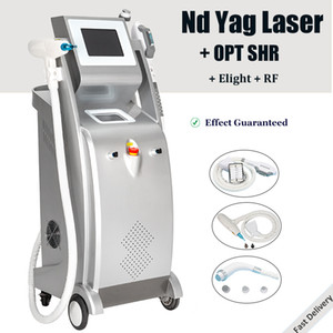 2021 hot OPT IPL Laser machine 4 IN 1 multifunction laser hair removal tattoo removal machine SHR Elight Nd Yag IPL beauty system