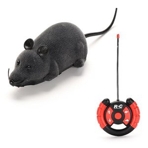 Wholesale mouse deer resale online - RC Electronic Children Funny Remote Control Mouse Animals Wireless Toys Gray For Rat Mice Toy Cat Pet Gift Toys Mouse Rgplm