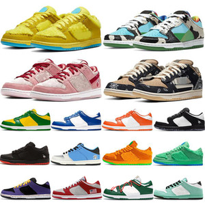 Wholesale pink basketball shoes for women resale online - 2020 Dunks Chunky Dunky Travis Scotts Mens Trainers for Women Skateboard running shoes Orange Bears Kentucky Outdoor Sport Sneakers