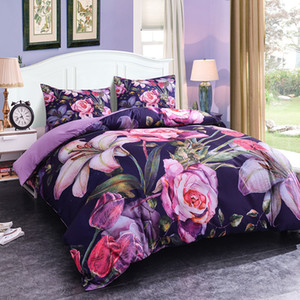 Wholesale flowers 3d duvet cover king for sale - Group buy Home Textiles Flowers D Luxury Bedding Sets King Size Of Duvet Cover Bed Cloth Pillowcase Bedclothes