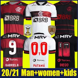 2020 Flamengo soccer jersey DE ARRASCAETA GABRIEL Barbosa football shirts kids kit GERSON B.HENRIQUE uniform Camisa Flamengo Feminina 20 21
