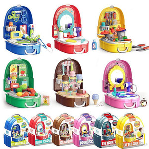 Wholesale kids toy doctor set for sale - Group buy Children Simulation Makeup Jewelry Set Doctor Tools Supermarket Suitcase Kitchen Tableware Play House Kits Kids Toys Girls Boys Game