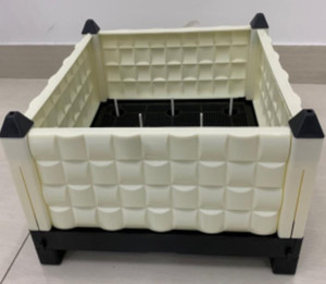 A basket for indoor rapid development of vegetables without watering can be equipped with AB nutrient solution can be randomly sized splicin