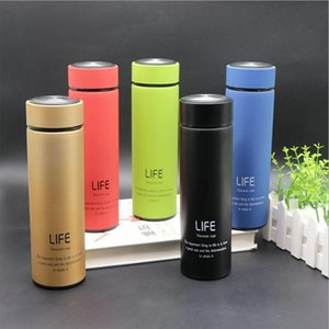 Wholesale stainless steel tea tumbler resale online - 17oz ml Skinny Tumbler Stainless Steel Vacuum Insulated Water Bottle Travel Coffee Mug Tea Cup Straight Cup Gift Customizable DBC VT1176