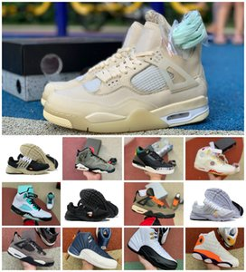 2020 New Travis Scotts 1s 4s 5s Jumpman Basketball Shoes Mens UNC White Presto Black Fire Red University Blue Ovo 13 Island Green Sneakers