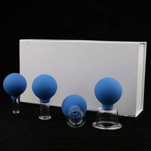 Silicone Glass Cupping Cups Silicone 2020 Best Seller Facial Massage Cupping Cups for Health Care Massage Cupping Silicone