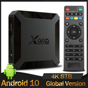 Wholesale original android tv box resale online - Original X96Q TV Box Android Allwinner H313 Quad Core GB GB Smart Media Player G Wifi K Set Top TVBox G8G Android10
