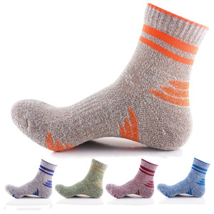 trockene socken großhandel-5pairs verdicken Kompressionsstrümpfe Qualitäts bunter lustiger Socken Men Fashion Quick Dry Anti Rutsch Warm