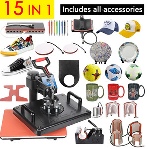 Wholesale shirt heat press machine for sale - Group buy Promotions CM in Combo Heat Press Machine D Sublimation Printer Printing Machine Cloth T shirt Cap Mug Plates Case