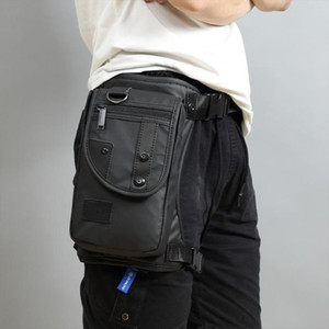 Wholesale leg pouch bag resale online - Men Fanny Waist Pack Waterproof Leg Bag Drop Messenger Shoulder Bags Travel Motorcycle Tactical Chest Pouch Bum Hip Belt Purse