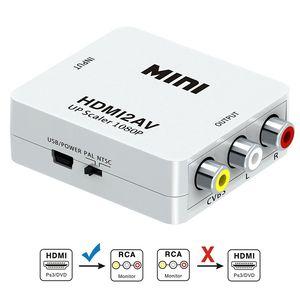 HD 1080P HDMI2AV Video Converter Box HDMI to RCA AV CVSB L R Video Support NTSC PAL Output HDMI TO AV Adapter