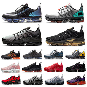 черные ботинки мужские  оптовых-vapormax utility vapormax plus tn Tropical Twist Utility Mens running shoes Neon Triple Red Black Grey Tones men women trainers sports sneakers Chaussures Zapatos