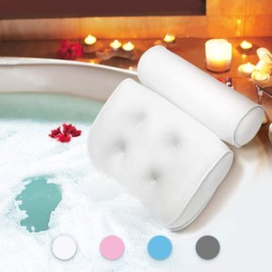 Wholesale bath pillows for sale - Group buy 3D bathtub pillow massage pillow strong suction cup bath pillow comfortable new cross border exclusively for factory direct sales