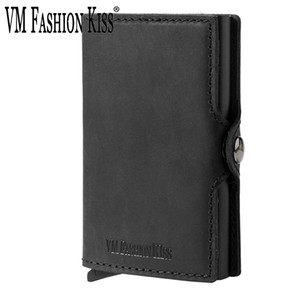 Wholesale custom gift card holders resale online - Custom Father s Day Gifts Genuine Leather Minimalism Wallets Automatic Nederlands Card Wallet Cardholde Luxury