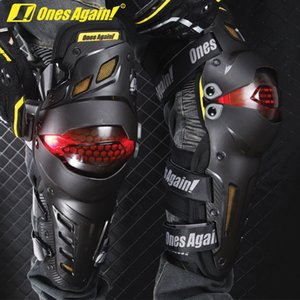 Wholesale protection one for sale - Group buy Ones agains LED Light Knee protector Motorcycle Knee Protection pads Leds gear Road knee pads guard KP03LED