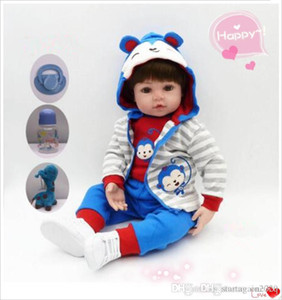 Wholesale silicone baby dolls resale online - 48cm and cm Babies reborn doll newborn doll soft silicone baby rebirth doll toy children Christmas holiday toys Kids