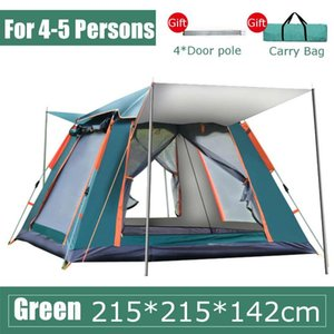 tenda dupla automática venda por atacado-4 pessoas jogam tenda ao ar livre Automatic Tendas Double Layer Waterproof Caminhadas Camping Tent Temporada Outdoor grandes tendas Família