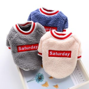 Wholesale poodle dogs resale online - Saturday Clothes For Bulldogs Soft Autumn Winter Pet Cat Small Medium Animal Puppies Dog Coat Jacket Shirt Chihuahuaha Poodle