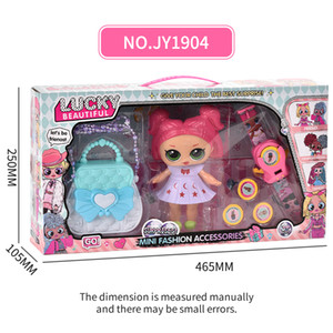 Wholesale houses for dolls resale online - Kid Toy Play House Lucky Doll Pretend Play and Dress up Model Toy for Girl Baby Doll Gift