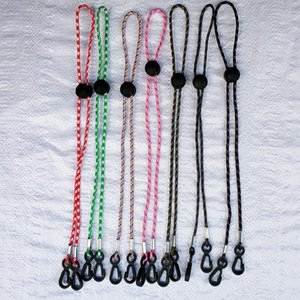 Wholesale moon mask resale online - Cover Mask Necklace Face Colorful Sling Lanyard Hanger String Ropes Cord Holder Hanging Necklines Key Safety Hook dr C2 Bcfrl