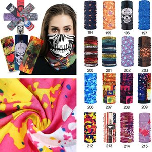 Wholesale pirate half mask resale online - Bike motorcycle helmet face mask half mask CS Ski Headwear Neck cycling pirate headband hat cap halloween mask Magic Scarve T1I2326