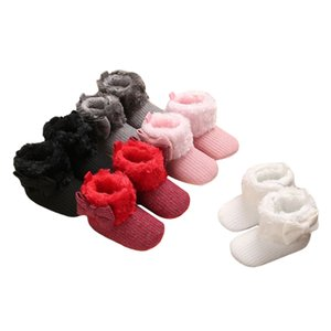 Wholesale walk for baby resale online - Baby Winter Shoes Simple Cute Beautiful Fashionable Soft Anti slip Warm Multi color Plush Boots For Shopping Out Trip Walking
