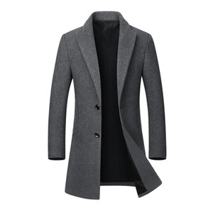Winter Coat Men Long Thick Woolen Coats Mens Stand Collar Casual Jackets Erkek Mont Palto Peacoat Overcoat Wool Parka Coats 4XL