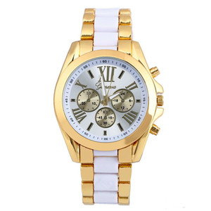 Wholesale wrist watches for men for sale - Group buy DHL Fashion Popular Mens Alloy Stainless Roma Big Dial Quartz Watches Double Color Male Casual Sport Wrist Watches For Men