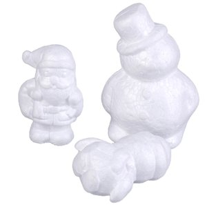 Wholesale shaping craft foam resale online - Modeling Snowman Shape Foam Balls Styrofoam Crafts For DIY Christmas Gifts