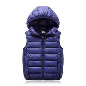Hooded Child Waistcoat Children Outerwear Winter Coats Kids Clothes Warm Cotton Baby Boys Girls Vest For Age 3-12 Years Old LJ200820