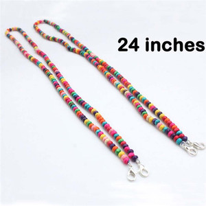 Wholesale african masks resale online - 7 style Mask Beads Extension Chain Wood Pendant Necklaces Round Bead Necklace Jewelry Wooden Beads Decor face mask holder JJ755