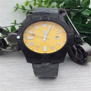 Wholesale cheaper watches resale online - cheaper price new watches men yellow dial black steel band wristwatches colt automatic watch men dress watches