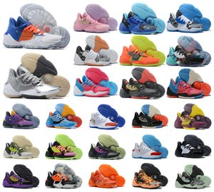 Wholesale mvp basketball shoe resale online - 2020 New James Harden Vol S IV MVP Black Boys Mens Basketball Shoes Outdoor Sports Training Sneakers Size