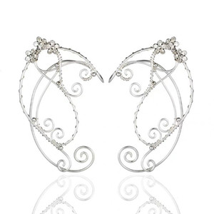 elf ohren großhandel-Elf Ear Cuffs Ohrclips Filigree Fee Verpackungs Ohrring Elven Cosplay XXFD